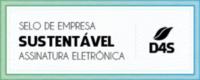 Selo de empresa sustentável, com transações eletrônicas