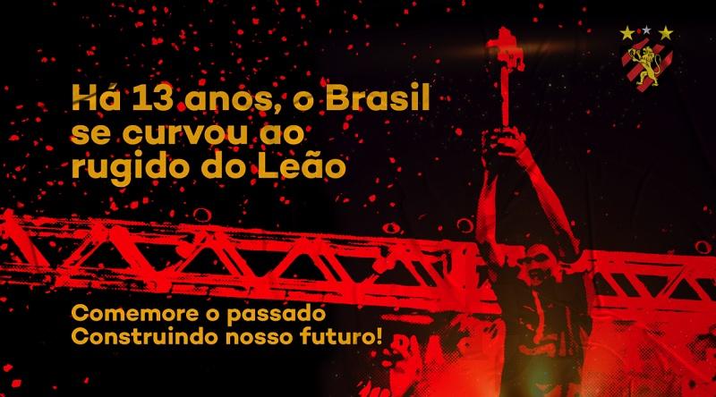 Sport Recife lança campanha para comemorar 13 anos do título da Copa do Brasil